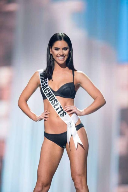 Julia Scaparotti, Miss Massachusetts USA 2017, competes on stage in Yandy Swim during the MISS USA® Preliminary Competition at Mandalay Bay Convention Center on May 11, 2017. The Miss USA contestants have been touring, filming, rehearsing and preparing to compete for the Miss USA crown in Las Vegas, Nevada. Tune in to the FOX telecast at 8:00 PM ET live/PT tape-delayed on Sunday, May 14, from Mandalay Bay Resort and Casino Las Vegas to see who will become Miss USA. HO/The Miss Universe Organization