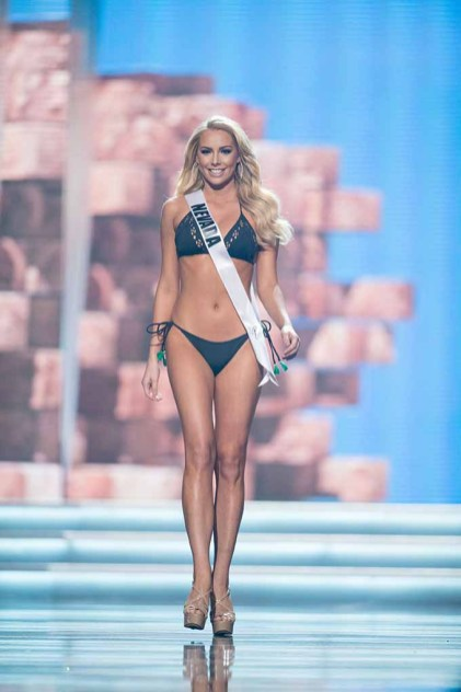 Lauren York, Miss Nevada USA 2017, competes on stage in Yandy Swim during the MISS USA® Preliminary Competition at Mandalay Bay Convention Center on May 11, 2017. The Miss USA contestants have been touring, filming, rehearsing and preparing to compete for the Miss USA crown in Las Vegas, Nevada. Tune in to the FOX telecast at 8:00 PM ET live/PT tape-delayed on Sunday, May 14, from Mandalay Bay Resort and Casino Las Vegas to see who will become Miss USA. HO/The Miss Universe Organization