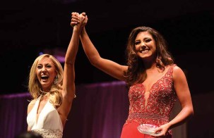 Miss Fairfield County Eliza Lynn Kanner, left, and Miss Wolcott Alyssa Anderson.