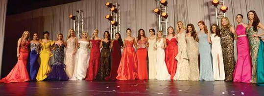The Class of 2017 Miss Connecticut contestants.