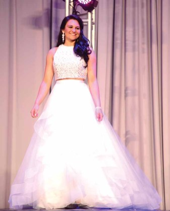 Brooke Cyr in her evening gown.