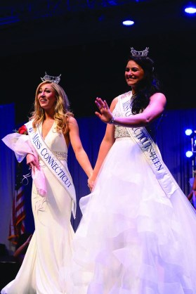 Miss Connecticut Eliza Lynne Kanner, left, and Miss Connecticut's Outstanding Teen Brooke Cyr.