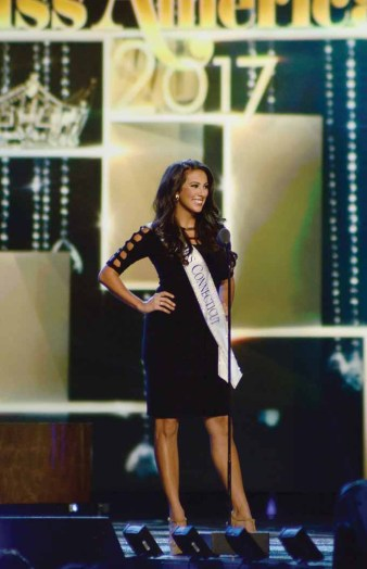 Miss Connecticut Alyssa Taglia, seen here at Miss America in Atlantic City last September, will crown her successor this weekend. (MIKE CHAIKEN PHOTO)
