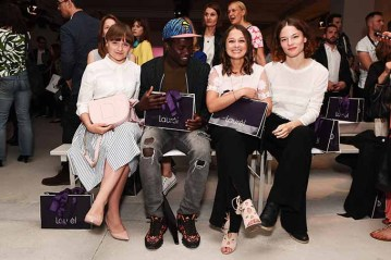 BERLIN, GERMANY - JULY 04: (L-R) Lena Urzendowsky, Nama Traore, Sarah Alles and Valerie Pachner attend the Laurel show during the Mercedes-Benz Fashion Week Berlin Spring/Summer 2018 at Kaufhaus Jandorf on July 4, 2017 in Berlin, Germany. (Photo by Matthias Nareyek/Getty Images for Laurel) *** Local Caption *** Lena Urzendowsky;Nama Traore;Sarah Alles;Valerie Pachner