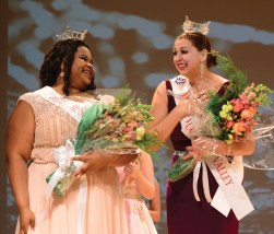 Zorrie McCray, left, is the new Miss Naugatuck Valley's Outstanding Teen. Courtney Ouellette was crowned Miss Naugatuck Valley. The pageant was held Sunday evening at Rotella Interdistrict Magnet School.