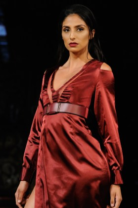 NEW YORK, NY - SEPTEMBER 07: A model walks the runway for Datari Austin Fashion Show at Art Hearts Fashion SS/18 at The Angel Orensanz Foundation on September 7, 2017 in New York City. (Photo by Arun Nevader/Getty Images for Art Hearts Fashion)