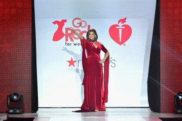 XX walks the runway during the American Heart Association's Go Red For Women Red Dress Collection 2018 presented by Macy's at Hammerstein Ballroom on February 8, 2018 in New York City.
