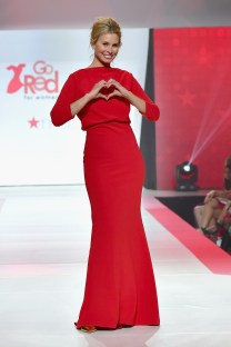 NEW YORK, NY - FEBRUARY 08: Model Niki Taylor walks the runway during the American Heart Association's Go Red For Women Red Dress Collection 2018 presented by Macy's at Hammerstein Ballroom on February 8, 2018 in New York City. (Photo by Slaven Vlasic/Getty Images for AHA) *** Local Caption *** Niki Taylor