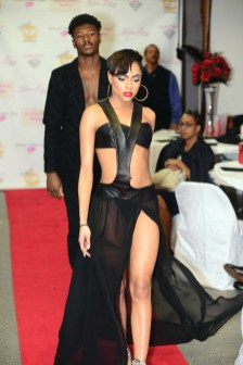 The Karlene Lindsay Designs runway show at The Great Gatsby vs Harlem Nights Fashion Gala.