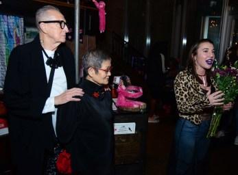 Thomas Foran, left, Eiko Sakai, and Hartford Fashion Week executive director Katrina Orsini.