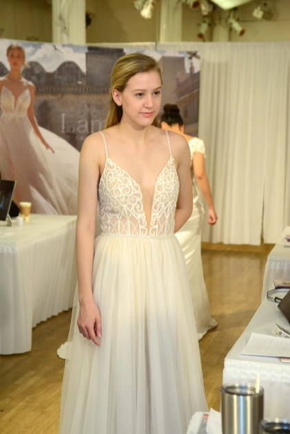 A bridal gown from Lamour Galla Blanche.