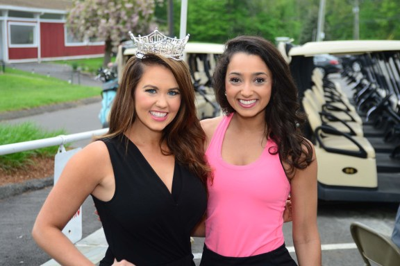 Miss America Cara Mund, left, with Miss Tolland County Gina Salvatore