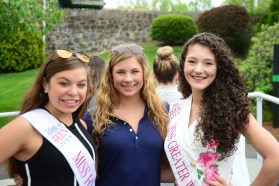Miss Forestville's Outstanding Teen Gia Iwanec, Miss Wolcott's Outstanding Teen Ava Onofreo, and Miss Greater Waterbury's Outstanding Teen Lindiana Frangu.
