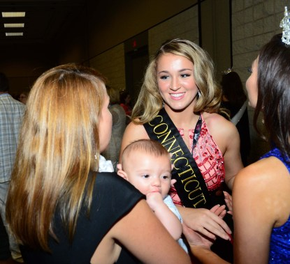 Morgan Mancini, Miss Connecticut's Outstanding Teen, with some of her guests.