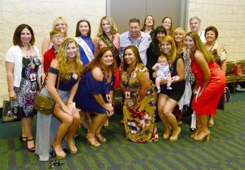 The family and friends in attendance for the second night of competition at Miss America's Outstanding Teen.