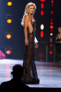 Jamie Hughes, Miss Connecticut USA 2018, competes on stage in her evening gown during the MISS USA® Preliminary Competition at George's Pond at Hirsch Coliseum on Thursday, May 17. The Miss USA contestants have spent the last week touring, filming, rehearsing and preparing to compete for the Miss USA crown in Shreveport-Bossier, Louisiana. Tune in to the 2018 MISS USA® Competition at 8:00 PM ET on Monday, May 21, live on FOX from Shreveport-Bossier, Louisiana to see who will become the next Miss USA. HO/The Miss Universe Organization