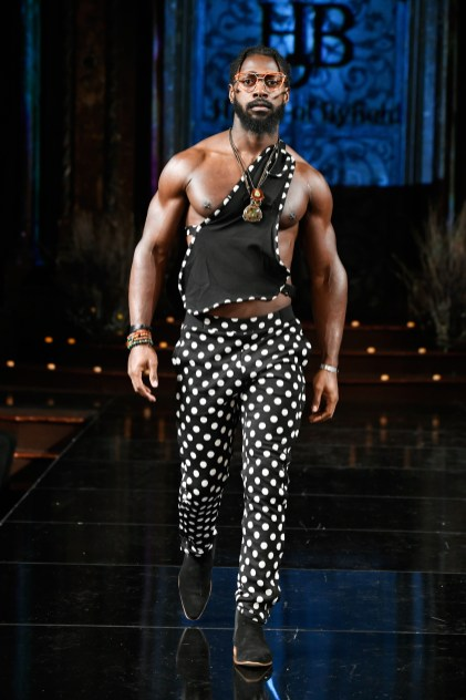NEW YORK, NY - FEBRUARY 09: A model walks the runway for HOUSE OF BYFIELD At New York Fashion Week Powered By Art Hearts Fashion NYFW at The Angel Orensanz Foundation on February 9, 2019 in New York City. (Photo by Arun Nevader/Getty Images)