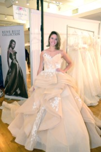A model wears a piece from Rene Ruiz during The Knot Couture bridal showcase during New York Bridal Fashion Week on April 14.