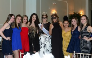 Some of the gues0ts pose for family and friends at the Miss Connecticut's Outstanding Teen Masquerade Ball on April 18.