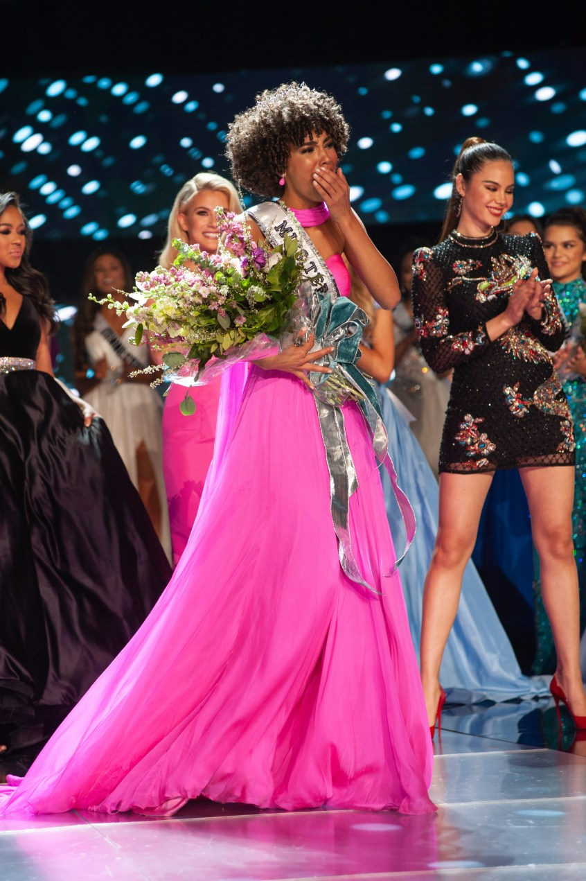 Kaliegh Garris, Miss Connecticut TEEN USA 2019, is crowned the new Miss Teen USA at the conclusion of the special programming event from Grand Sierra Resort and Casino's (GSR) Grand Theatre on Sunday, April 28. The new winner will become a spokesperson for various causes alongside The Miss Universe Organization. HO/The Miss Universe Organization