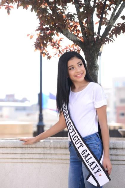 Jr. Miss Connecticut Galaxy Daviana Plaza.
