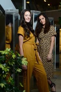 Models Allie Maisto, left, Monika Korbusieski