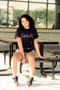 Damya Gonzalez in OAK Apparel.