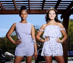 Aicha Diallo, left, and Allie Maisto