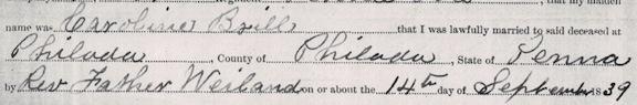 Carman Marriage 1839