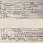 thumbnail image of Mamie Ware Garrison death certificate