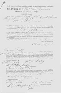 Nicholas Conrad Naturalization Petition