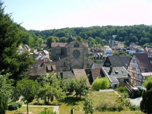 Image of Otterberg Germany with the Abbey Church center
