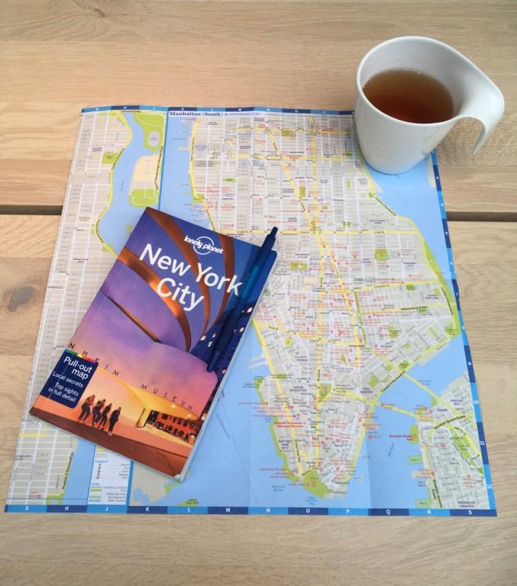 Lonely Planet en plattegrond van New York