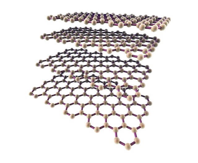 A representation of Graphene Nanoplatelets atomic structure - side view