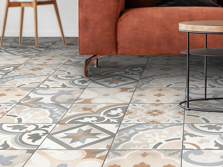 morocco cementine ecotec matt ceramic floor tile 350 x 350mm