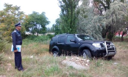 Masina lui Vladimir Marin. FOTO captura video