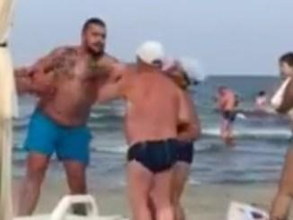 Turistă bătută pe plaja Alandala din Mamaia. FOTO Captură video
