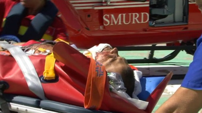 Una dintre victimele exploziei a fost rănită grav. FOTO ctnews.ro