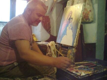 Artistul Dan Deaconu și pasiunea lui pentru pictură