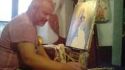 Pictorul Dan Deaconu oferă o icoană pentru ghete pentru băiatul său