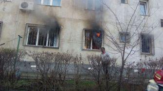 Incendiu de apartament. FOTO ISU Dobrogea