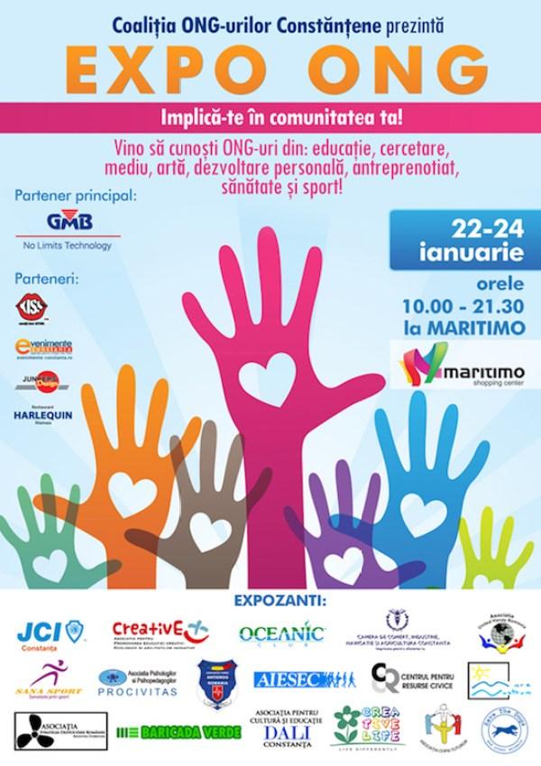 Afișul primei ediții a EXPO ONG