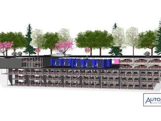 Parcare subterană, construită sub un parc. FOTO automotionparking.com