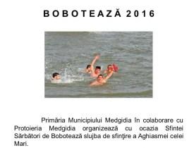 Boboteaza organizată de Primăria Medgidia. FOTO Facebook