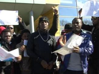 Protest al studenților nigerieni de la UMC