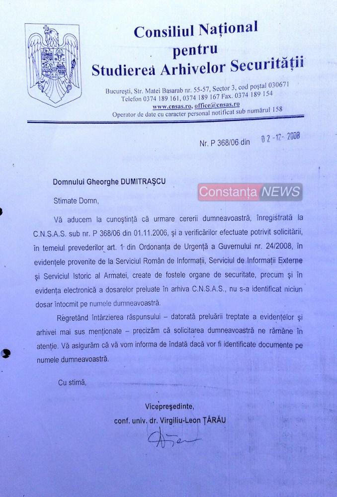 Decizie CNSAS Gheorghe Dumitrașcu