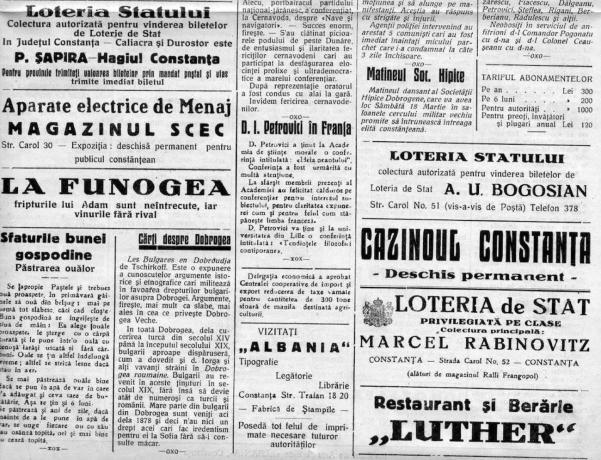 O pagină din ziarul Farul din anii '30. FOTO Marius Teja