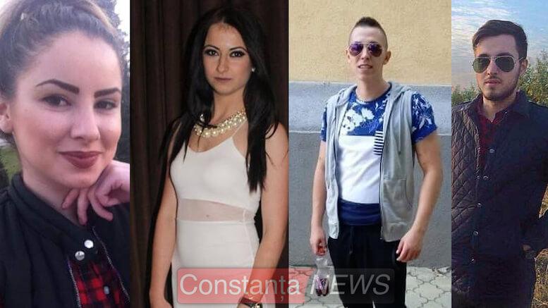 Veronica Anabella Vezeteu, Ioana Dima, Emanuel Coroma și Adrian Bîcu – victime accident. Colaj FOTO Constanța NEWS