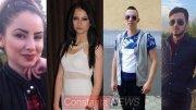 Veronica Anabella Vezeteu, Ioana Dima, Emanuel Coroma și Adrian Bîcu - victime accident. Colaj FOTO Constanța NEWS
