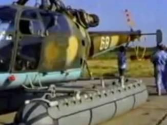 Elicopter IAR 316 B Alouette - amerizare la Tuzla